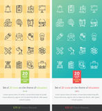 Set Icons on the Theme of Education Royalty Free Stock Photography