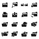 Folder icon2. Set of icons on a theme folder. Vector illustration Stock Photo