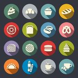 Set of icons on a theme food Stock Images