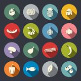 Set of icons on a theme food Royalty Free Stock Photos