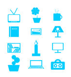 Set of icons on a theme: house, interior, decor Royalty Free Stock Image