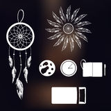 Set of icons on a theme of lucid dream and deep sleep Royalty Free Stock Images