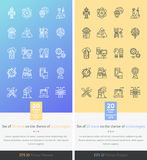 Set Icons on the Theme of Modern Technology Royalty Free Stock Photo