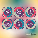 Set of icons on a theme of travel Royalty Free Stock Image