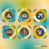 Set of icons on a theme of travel Stock Photography