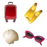 Set icons on the theme of travel Stock Photos