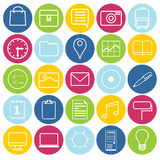 Set of icons. 25 thin line icons for web and mobile Stock Image