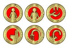 Set of icons (toilet, bathroom) Royalty Free Stock Photo