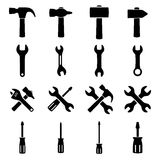 Set icons of tools Royalty Free Stock Images