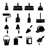 Set icons of tools. Set of icons of tools on white background Royalty Free Stock Photos