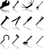 Set icons. Tools. Stock Photography