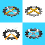 Set of icons of tools for construction and repair Stock Photo