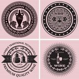 Set of icons on the topic wine. Vector set of icons on the topic wine Stock Image