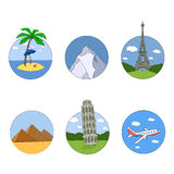 Set icons. tourism and recreation Royalty Free Stock Image