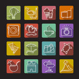 Set of icons on a tourist theme Royalty Free Stock Photography
