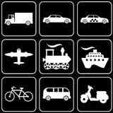 Set of icons (transport) Royalty Free Stock Photo