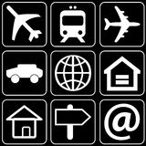 Set of icons (transport, travel) Royalty Free Stock Photography