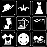 Set of  icons - Transport, travel, rest Royalty Free Stock Photo