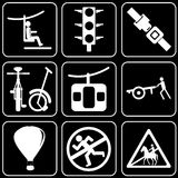 Set of  icons - Transport, travel, rest Stock Image