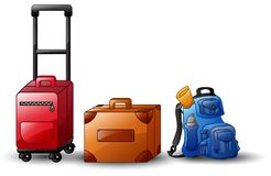 Set of icons travel bags Royalty Free Stock Images