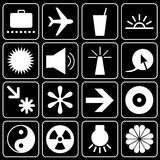 Set of icons (travel, others) Royalty Free Stock Photo