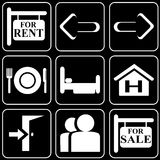 Set of icons (travel, rest) Stock Photos