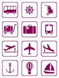 Set of icons for travel services Royalty Free Stock Photos