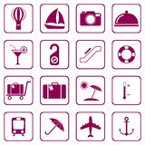 Set of icons for travel services Stock Images