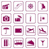 Set of icons for travel services Stock Photos