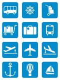 Set of icons for travel services Royalty Free Stock Photo