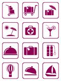 Set of icons for travel services Royalty Free Stock Images