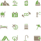 Set icons for travel and tourism. Royalty Free Stock Photography