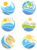 A set of icons - Travel, Tourism and Leisure Stock Photos