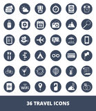 Set of icons Travel and tourism Royalty Free Stock Photo
