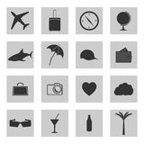 Set of icons travel, vector illustration. Royalty Free Stock Photo