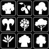 Set of icons (trees) Royalty Free Stock Photos