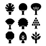 Set icons of trees. Isolated on white Stock Images