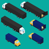 Set icons of trucks Royalty Free Stock Photo