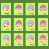 Set of icons of twelve Easter eggs-smile. royalty free illustration