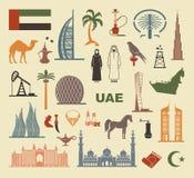 Set of icons United Arab Emirates Stock Photo