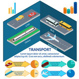 Set of icons of urban passenger transport. Stock Photos