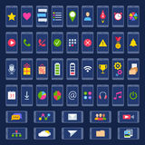 Set of icons for user interface mobile devices and web applications. Stock Photography