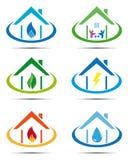 Set of icons of utility house Stock Photos
