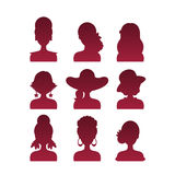 Set of Icons with Various Women Fashion Styles Stock Image