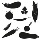 Set of icons vegetables Stock Photos