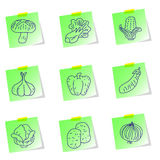 Set  icons of vegetables Stock Photography