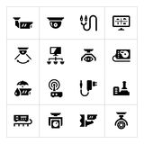 Set icons of video surveillance Royalty Free Stock Image