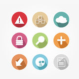 Set of icons - vintage Stock Photo