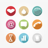 Set of icons - vintage Stock Photography