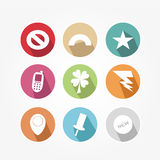 Set of icons - vintage Royalty Free Stock Image